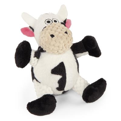 GoDog™ Toys Checkers Sitting Cow by GoDog -Large-Dog-GoDog™ Toys-PetPhenom