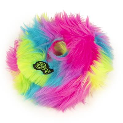 GoDog™ Toys Furballz Rings by GoDog - Medium - Warm Rainbow-Dog-GoDog™ Toys-PetPhenom