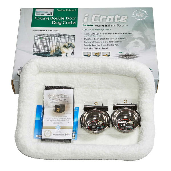 "Midwest iCrate Dog Crate Kit Small 24"" x 18"" x 19""-Dog-Midwest-PetPhenom"