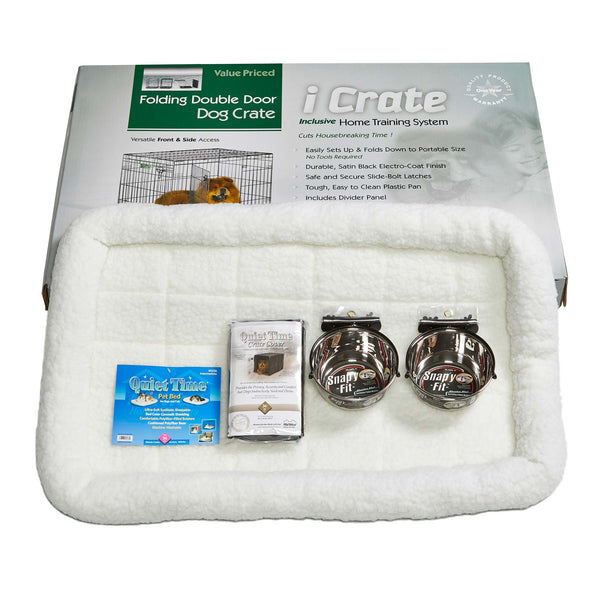 "Midwest iCrate Dog Crate Kit Large 36"" x 23"" x 25""-Dog-Midwest-PetPhenom"