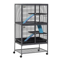 "Midwest Critter Nation Double Level Pet Pen Gray 36"" x 24"" x 63""-Small Pet-Midwest-PetPhenom"