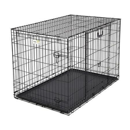 "Midwest Ovation Double Door Crate with Up and Away Door Black 25.50"" x 17.50"" x 19.50""-Dog-Midwest-PetPhenom"