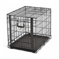 "Midwest Ovation Single Door Crate with Up and Away Door Black 25.50"" x 17.50"" x 19.50""-Dog-Midwest-PetPhenom"