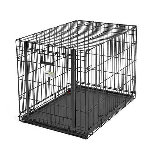 "Midwest Ovation Single Door Crate with Up and Away Door Black 37.25"" x 23"" x 25""-Dog-Midwest-PetPhenom"