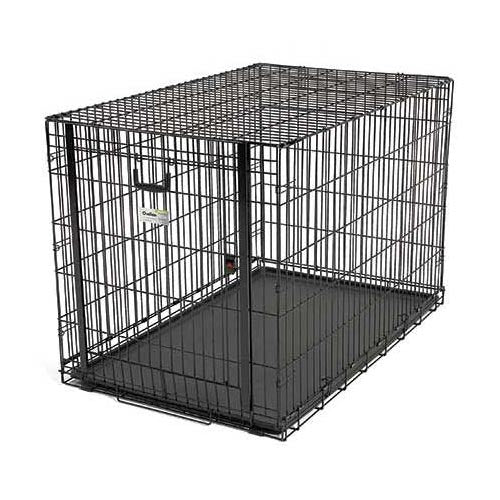 "Midwest Ovation Single Door Crate with Up and Away Door Black 49.00"" x 31"" x 32.25""-Dog-Midwest-PetPhenom"