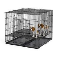 "Midwest Puppy Playpen with Plastic Pan and 1"" Floor Grid Black 36"" x 36"" x 30""-Dog-Midwest-PetPhenom"