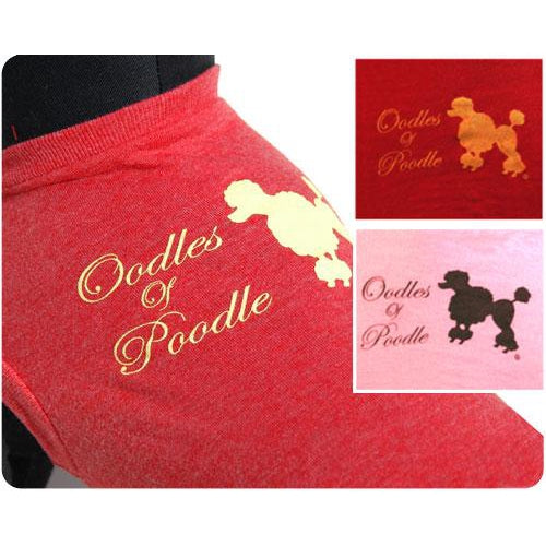 26 Bars & a Band Oodles of Poodle Identi-tees - Large - Pink (P)-Dog-26 Bars & a Band-PetPhenom