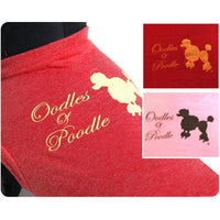 26 Bars & a Band Oodles of Poodle Identi-tees - Large - Red (R)-Dog-26 Bars & a Band-PetPhenom
