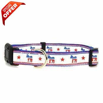 Mirage Pet Products Political Nylon Democrat Dog Collar, Small-Mirage Pet Products-PetPhenom