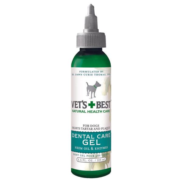 "Vet's Best Dog Dental Gel Toothpaste 3.5oz Green 5"" x 0.5"" x 9""-Dog-Vet's Best-PetPhenom"