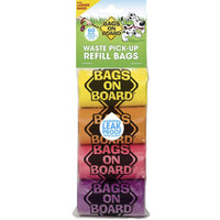 Bags on Board Waste Pick-Up Refill Bags 60 count Multi-Color-Dog-Bags on Board-PetPhenom