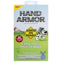 Bags on Board Hand Armor Pick-Up Bags with Anti-Yuck Protection 100 Count Blue