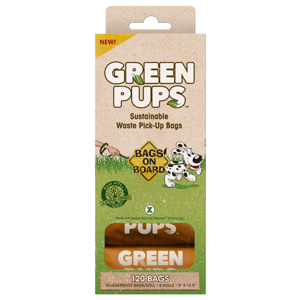 Bags on Board Green-Ups Waste Pick-Up Refill Bags 120 count Brown-Dog-Bags on Board-PetPhenom