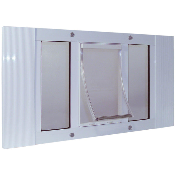 "Ideal Pet Products Aluminum Sash Pet Door Extra Large White 1.75"" x 20.63"" x 33""-Dog-Ideal Pet Products-PetPhenom"
