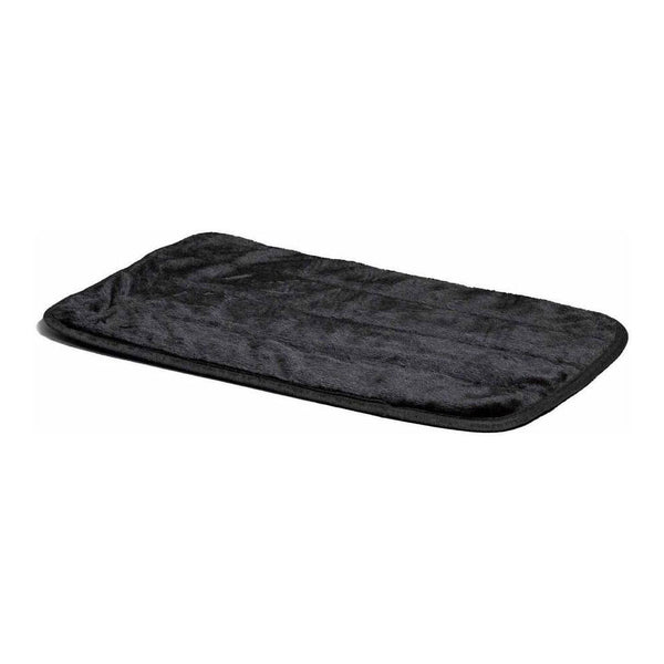 "Midwest Quite Time Deluxe Fur Pet Mat Black 23"" x 17"" x 0.1""-Dog-Midwest-PetPhenom"