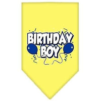 Mirage Pet Products Birthday Boy Screen Print Bandana, Large, Assorted Colors-Dog-Mirage Pet Products-Yellow-PetPhenom