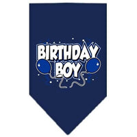 Mirage Pet Products Birthday Boy Screen Print Bandana, Large, Assorted Colors-Dog-Mirage Pet Products-Navy Blue-PetPhenom