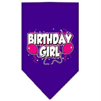Mirage Pet Products Birthday Girl Screen Print Bandana, Small, Assorted Colors-Dog-Mirage Pet Products-Purple-PetPhenom