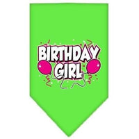 Mirage Pet Products Birthday Girl Screen Print Bandana, Large, Assorted Colors-Dog-Mirage Pet Products-Lime Green-PetPhenom