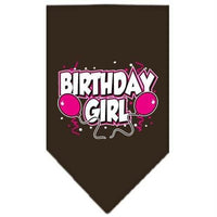 Mirage Pet Products Birthday Girl Screen Print Bandana, Small, Assorted Colors-Dog-Mirage Pet Products-Cocoa-PetPhenom
