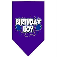 Mirage Pet Products Birthday Boy Screen Print Bandana, Large, Assorted Colors-Dog-Mirage Pet Products-Purple-PetPhenom
