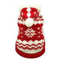 Hip Doggie Inc. Red Super Soft Snowflake Hoodie by Hip Doggie -Large-Dog-Hip Doggie Inc.-PetPhenom