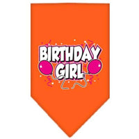 Mirage Pet Products Birthday Girl Screen Print Bandana, Small, Assorted Colors-Dog-Mirage Pet Products-Orange-PetPhenom