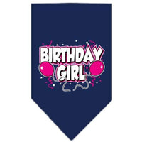 Mirage Pet Products Birthday Girl Screen Print Bandana, Large, Assorted Colors-Dog-Mirage Pet Products-Navy Blue-PetPhenom