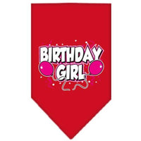 Mirage Pet Products Birthday Girl Screen Print Bandana, Large, Assorted Colors-Dog-Mirage Pet Products-Red-PetPhenom