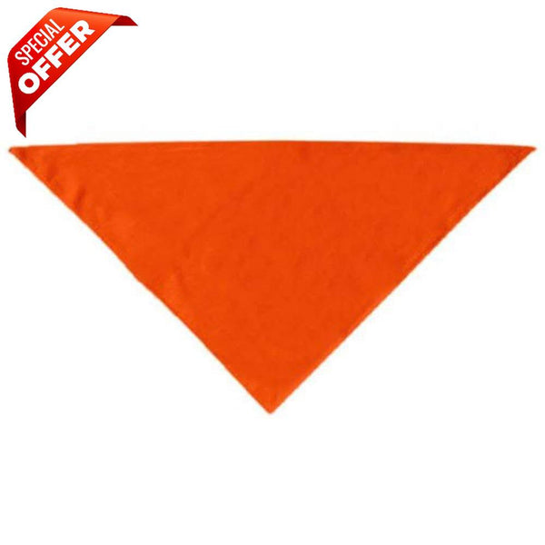 Mirage Pet Products Plain Bandana, Large, Assorted Colors-Dog-Mirage Pet Products-Orange-PetPhenom
