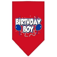 Mirage Pet Products Birthday Boy Screen Print Bandana, Large, Assorted Colors-Dog-Mirage Pet Products-Red-PetPhenom