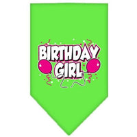 Mirage Pet Products Birthday Girl Screen Print Bandana, Small, Assorted Colors-Dog-Mirage Pet Products-Lime Green-PetPhenom