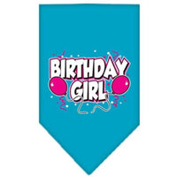 Mirage Pet Products Birthday Girl Screen Print Bandana, Large, Assorted Colors-Dog-Mirage Pet Products-Turquoise-PetPhenom
