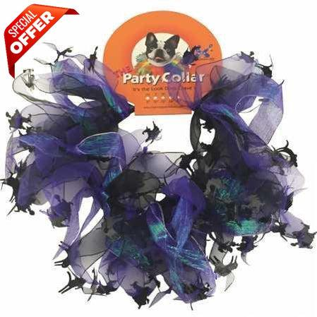 Charming Party Collar Cats & Witches, Large-Charming-PetPhenom