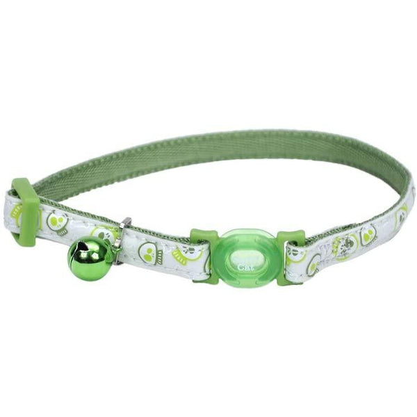 Safe Cat® Adjustable Snag-Proof Nylon Breakaway Collar, Glowing Lime-Cat-Coastal Pet Products-PetPhenom