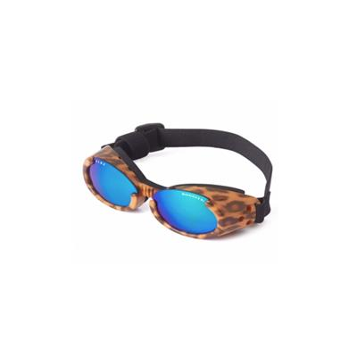 Doggles® Leopard Print Frame ILS Doggles with Mirror Lens -Small-Dog-Doggles®-PetPhenom