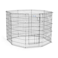 "Midwest Life Stages Pet Exercise Pen with Split Door Black 24"" x 36""-Dog-Midwest-PetPhenom"