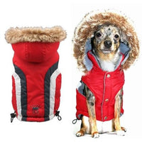 Hip Doggie Inc. Red Swiss Alpine Ski Vest by Hip Doggie -Big Dog XSmall-Dog-Hip Doggie Inc.-PetPhenom