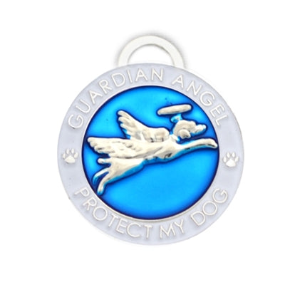 Luxepets Blue Guardian Angel Dog Charm-Dog-Luxepets-PetPhenom
