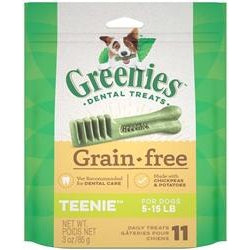 Greenies Grain Free Dental Dog Treat Entry Level Teenie 3oz-Cat-Greenies-PetPhenom