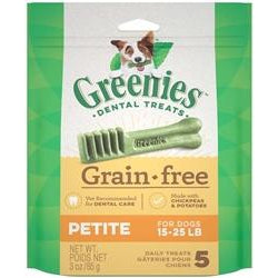 Greenies Grain Free Dental Dog Treat Entry Level Petite 3oz-Cat-Greenies-PetPhenom