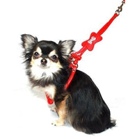 Hip Doggie Inc. Red Bone Designer Charm Step-in Harness by Hip Doggie -X-Small-Dog-Hip Doggie Inc.-PetPhenom