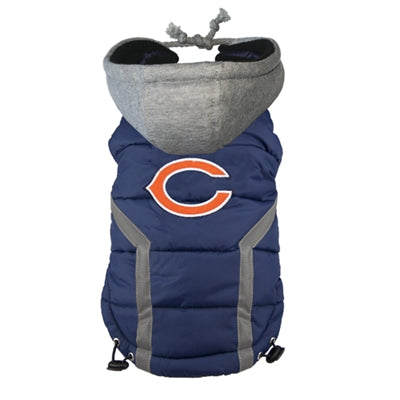 Hip Doggie Inc. Chicago Bears Dog Puffer Vest by Hip Doggie -XXL-Dog-Hip Doggie Inc.-PetPhenom