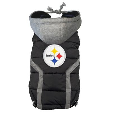 Hip Doggie Inc. Pittsburg Steelers Dog Puffer Vest by Hip Doggie -XXL-Dog-Hip Doggie Inc.-PetPhenom