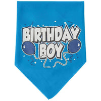Mirage Pet Products Birthday Boy Screen Print Bandana, Large, Assorted Colors-Dog-Mirage Pet Products-Turquoise-PetPhenom