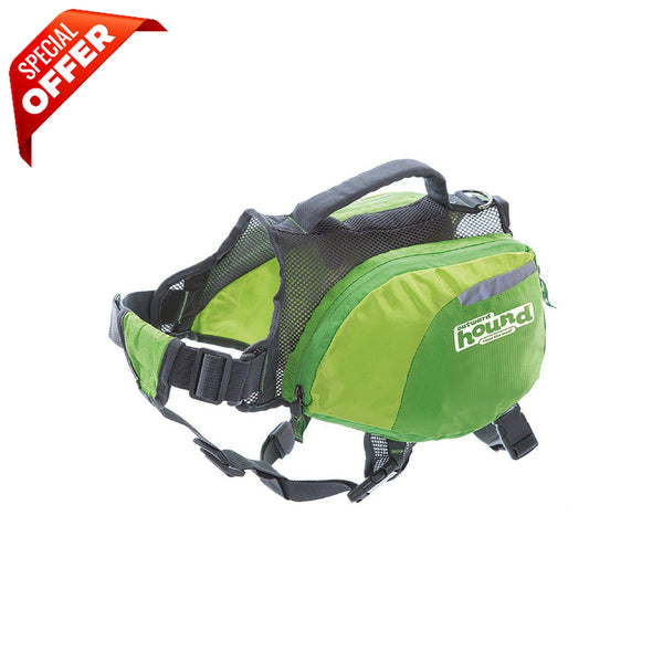 Outward Hound Daypak Dog Backpack Hiking Gear For Dogs, Large, Green-Dog-Outward Hound-PetPhenom