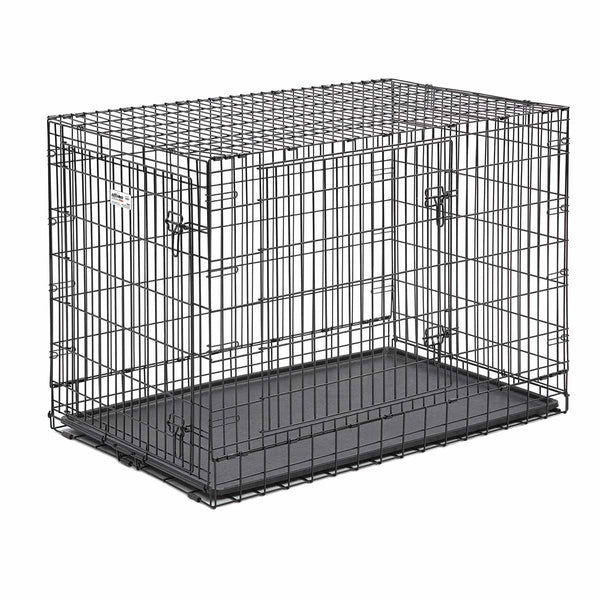 "Midwest Ultima Pro Double Door Dog Crate Black 49"" x 30"" x 34.50""-Dog-Midwest-PetPhenom"