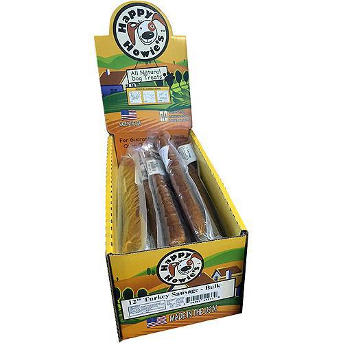 "Happy Howie's Dog Turkey Sausage 12"" 18pk-Dog-Happy Howie-PetPhenom"