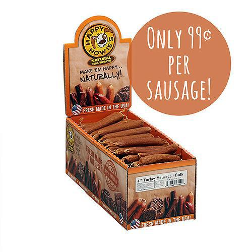 "Happy Howie Dog Turkey Sausage 4"" 80 Pack-Dog-Happy Howie-PetPhenom"