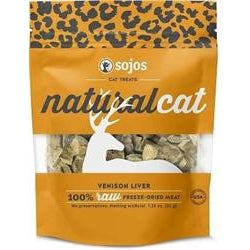 Sojos Cat Naturals Treats Venison Liver 1 oz.-Cat-Sojos-PetPhenom